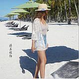 Солнцезащитная одежда кружевная накидка розы пляжная мода , фото 4