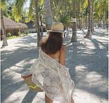 Солнцезащитная одежда кружевная накидка розы пляжная мода , фото 5