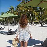 Солнцезащитная одежда кружевная накидка розы пляжная мода , фото 6