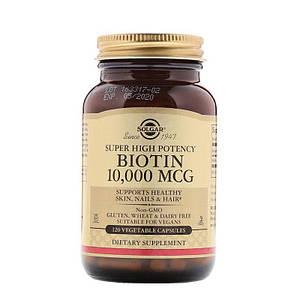 Solgar Biotin 10,000 mcg. 120 капсул (Солгар Биотин 10,000 мкг)