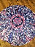 Парео круглый пляжный коврик цветок фиолетовый, фото 2