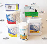 Химия для бассейнов, комплект «Big XL» (шок-хлор, мультитаб, альгицид, pH-минус, тестер, флок) на 30 — 60 м³, фото 3