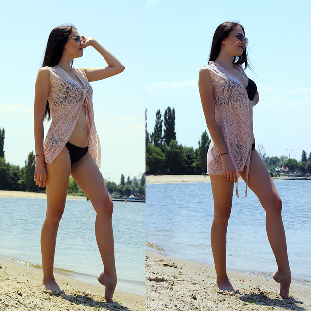пляжна гіпюрова накидка
