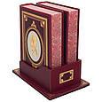 """Книги в кожаном переплете и подарочном футляре-подставке """"Витязь в тигровой шкуре"""" Шота Руставели (в 2х томах), фото 2"""