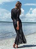 Солнцезащитная одежда длинный кружевной халат пляжная мода , фото 5