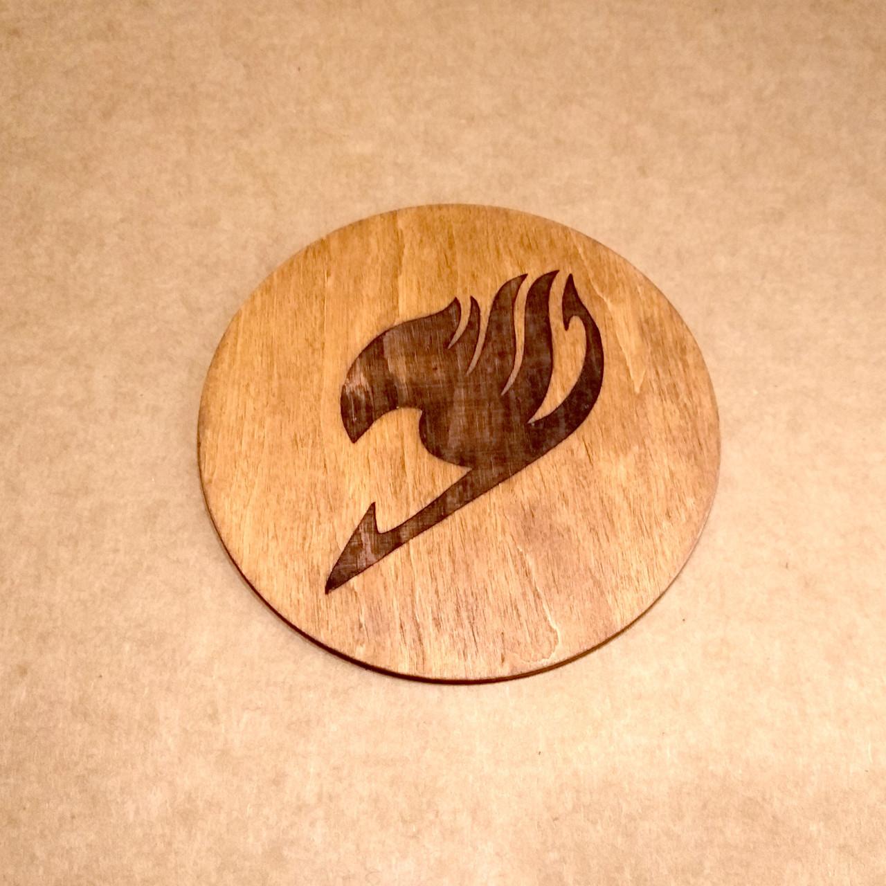 Костер деревянный. Подставка под кружку Fairy Tail.