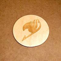 Костер деревянный. Подставка под кружку Fairy Tail., фото 1
