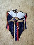 Купальник монокини  стильный принт полосы, фото 6