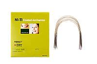 HUBIT, дуга NI-TI эстетическая, круглая, с покрытием под цв. зуба, верх, низ, 1 шт.