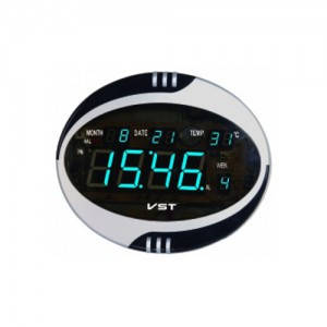 Часы сетевые 770 Т-5 синие, фото 2