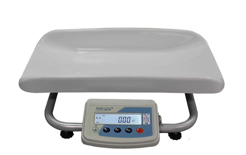Весы медицинские для новорожденных «ТВЕ1-15-5-(300×550)-13ра-М»