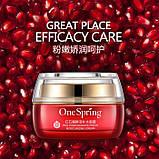 Крем для лица с экстрактом красного граната и гиалуроновой кислотой One Spring, 50г, фото 2