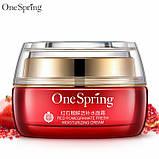 Крем для лица с экстрактом красного граната и гиалуроновой кислотой One Spring, 50г, фото 3