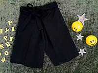 Детские шорты-кюлоты  на девочку, р. 116-152, черный