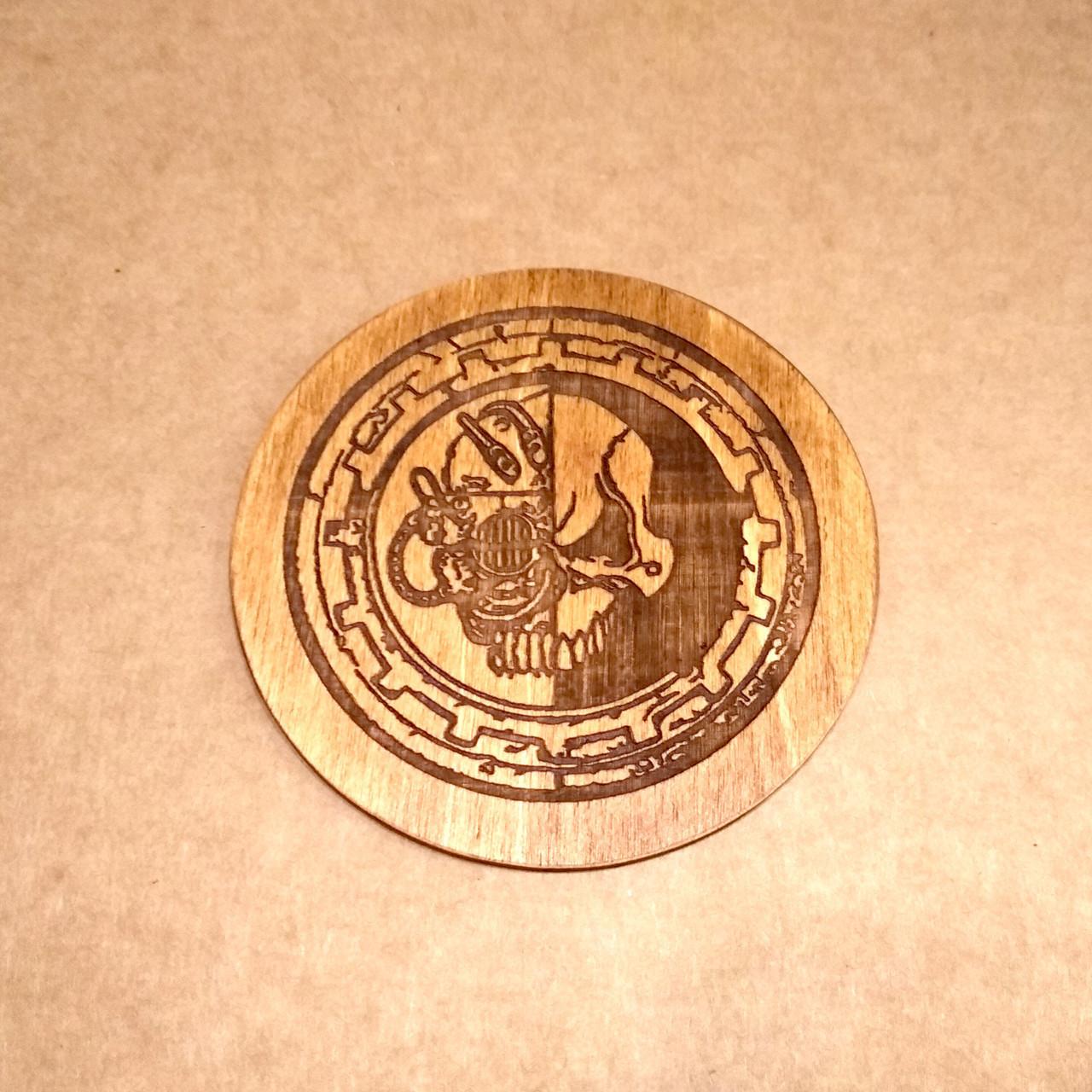 Костер деревянный. Подставка под кружку Вархаммер