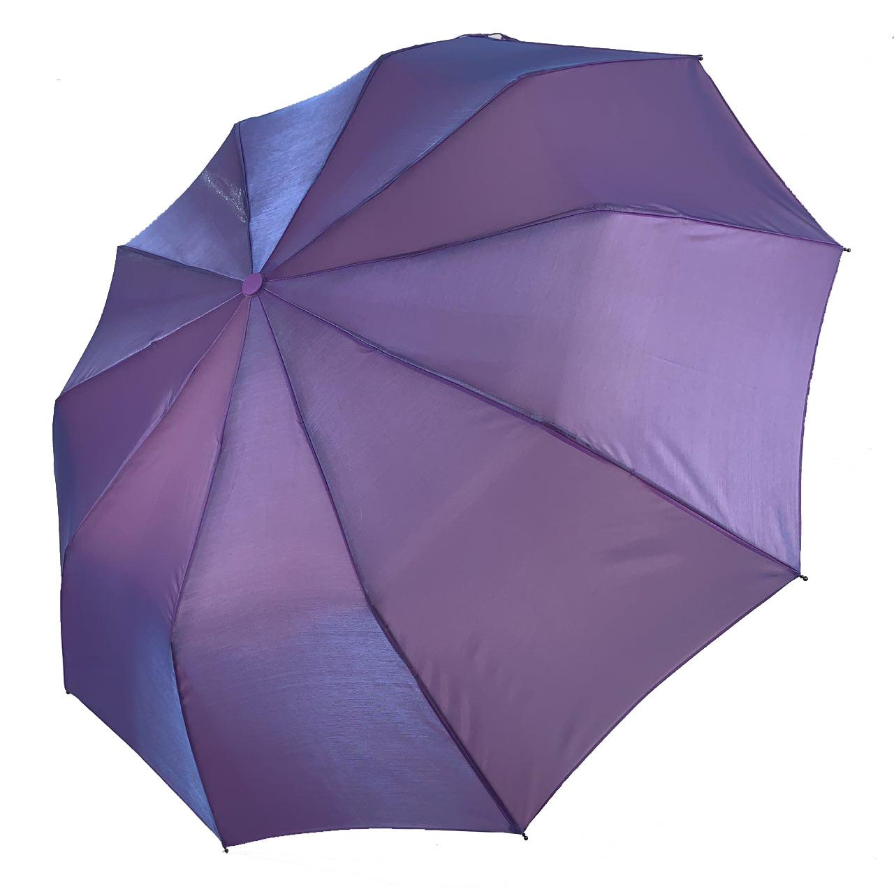 Женский зонт-полуавтомат Bellissimo хамелеон, фиолетовый,  SL1094-5