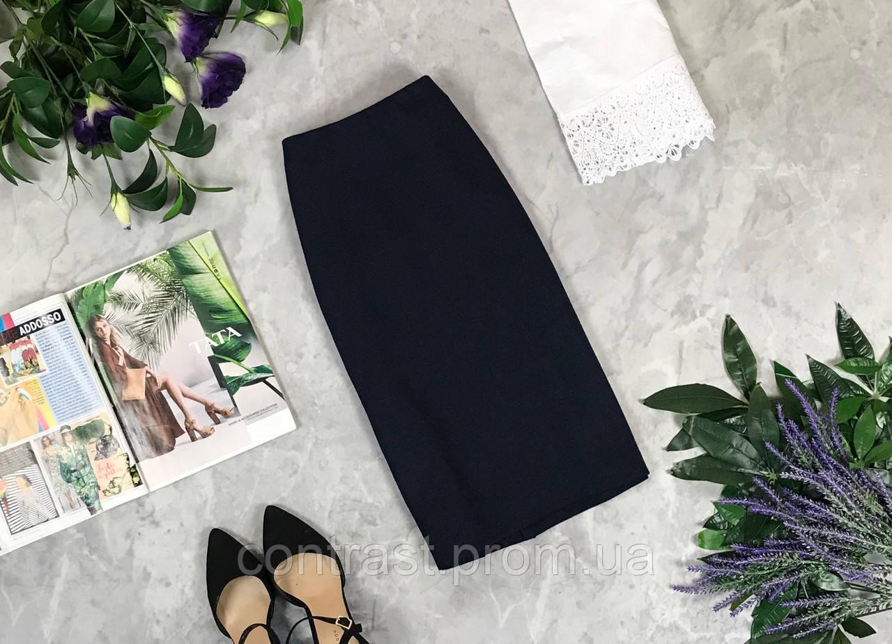 Качественная базовая юбка из шерстти  KI1926128