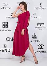 """Асимметричное хлопковое платье на одно плечо """"Nell"""" с поясом (2 цвета), фото 3"""