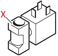 L 11008828 Електроклапан гарячої води, 230V, 50Hz, TA80*С, 1/8-1/8, на 2 входи