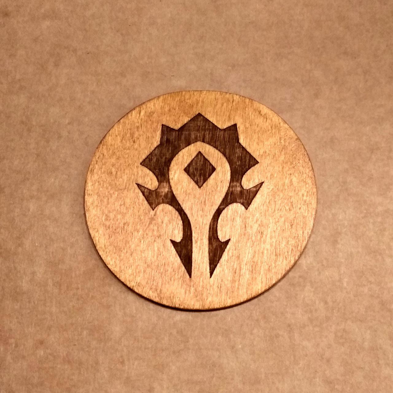 Костер деревянный. Подставка под кружку WoW