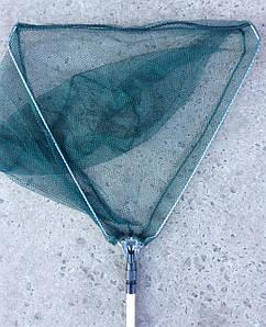Подсак треугольный 60х190см,  с телескопической ручкой