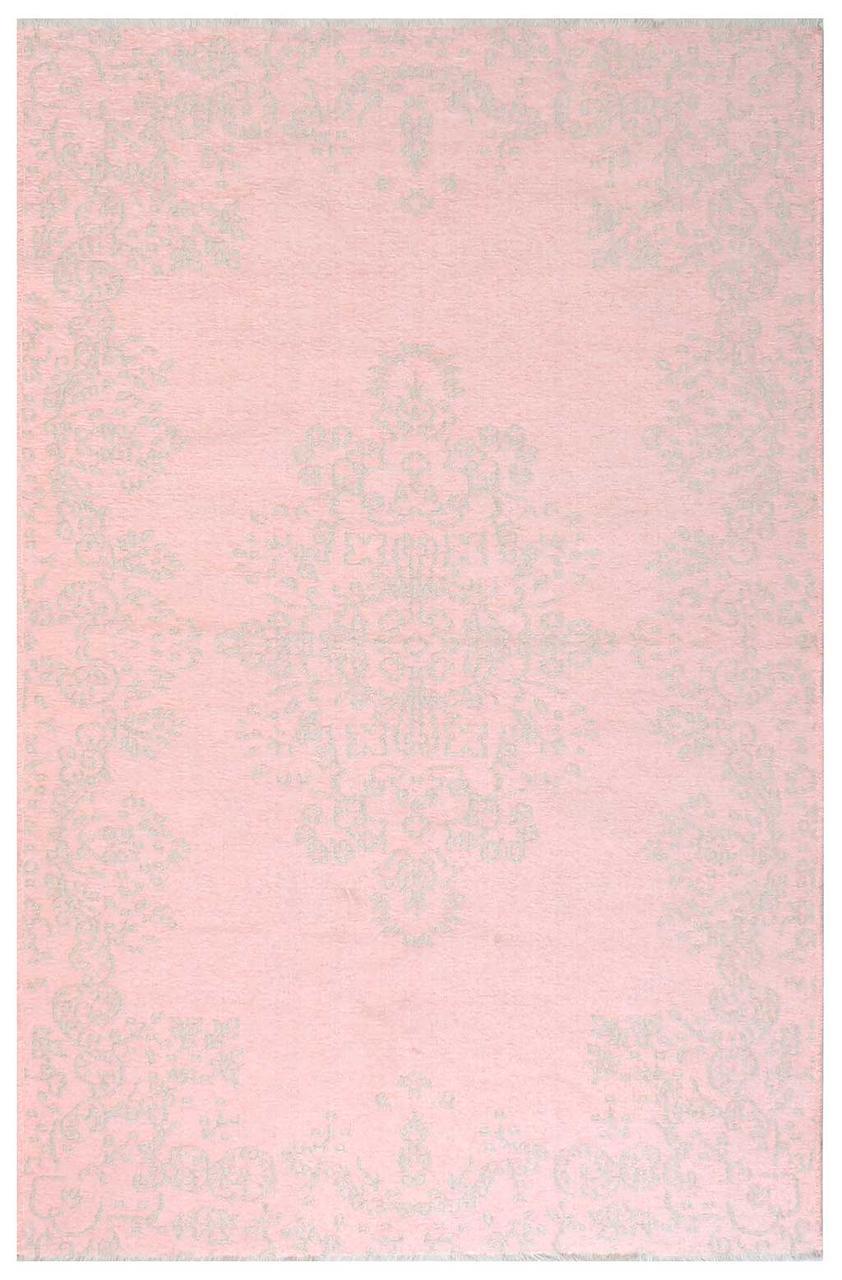 Ковер My Home Moretti Side двусторонний розовый с белым