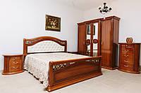 Спальня Валенсия (орех) (1,60 м.) (с подъёмным механизма) (раскомплектовываем)