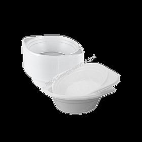 Одноразова тарілка супова глибока пластикова 500 мл 100 шт/уп