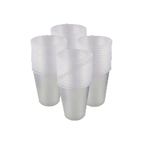 Одноразові стакани пластикові прозорі 200 мл 100 шт / уп