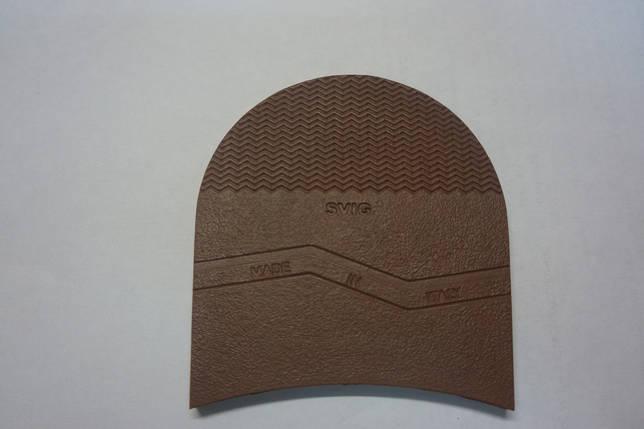 Формованная резиновая набойка для обуви SVIG мал.(Украина)корич., фото 2
