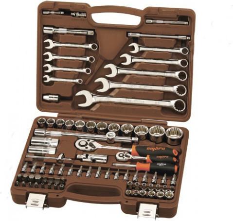 """Набор инструмента 12-ти гранные торцевые головки 4-32мм 1/4"""" и 1/2""""DR и аксессуары к ним, комбинированные ключ"""