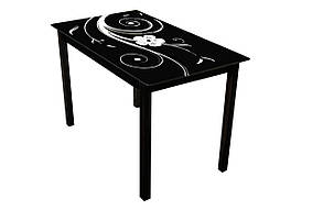 Стеклянный стол Монарх Лотос