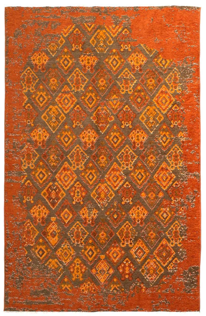 Ковер My Home Moretti Side двусторонний оранжевый