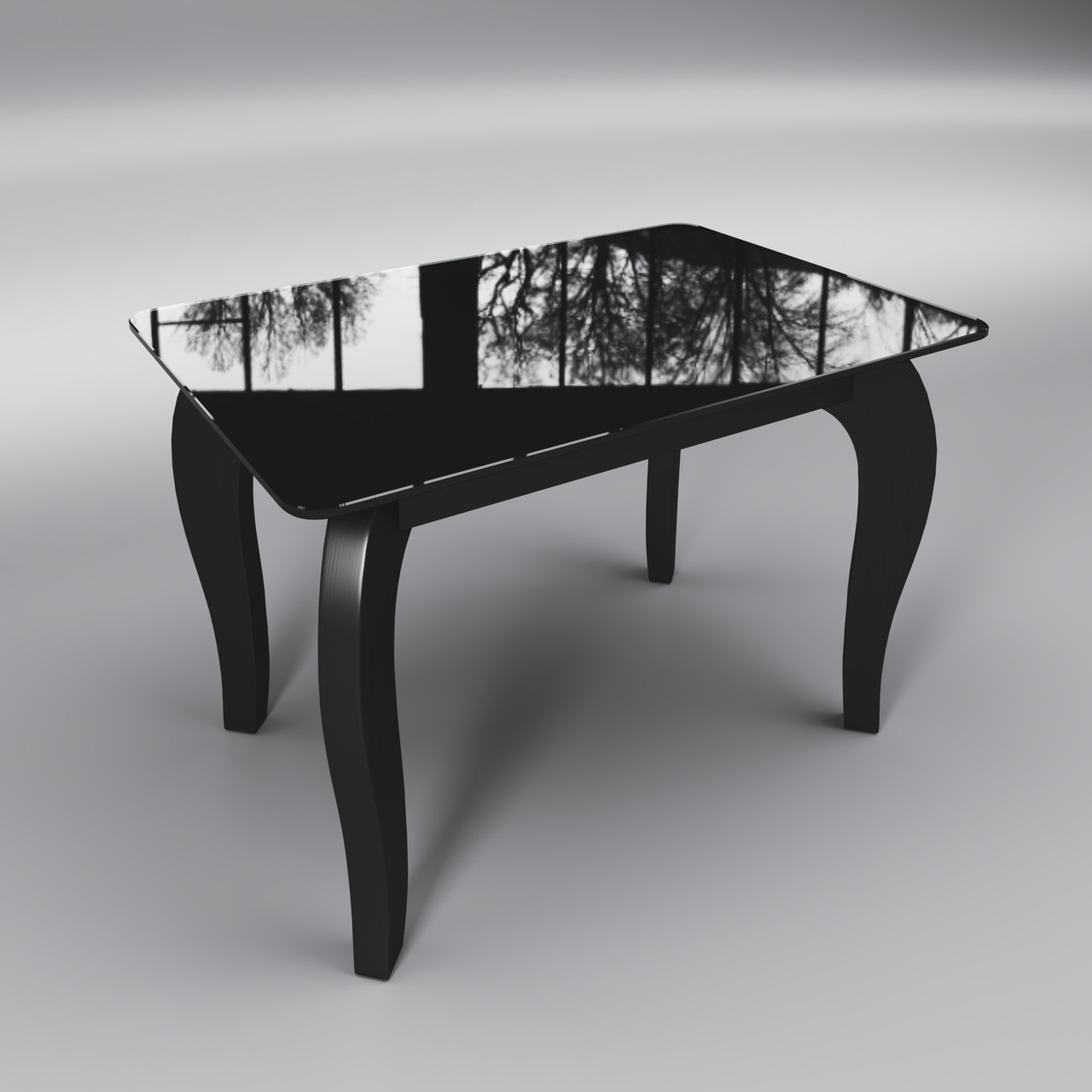 Стеклянный стол Император мини (журнальный) черный