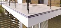 Алюминиевый карниз капельник для открытытого балкона и террасы под плитку 2 м.п. тип К30