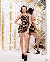 Женский костюм с шортами милитари (р.42-46), фото 1