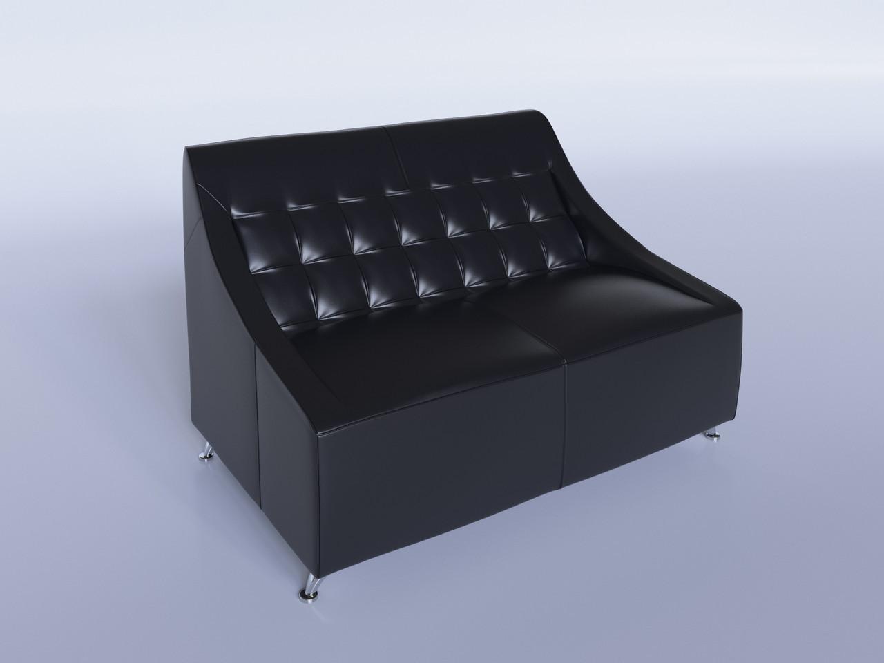 """Офисный диван """"Полис"""" черный"""