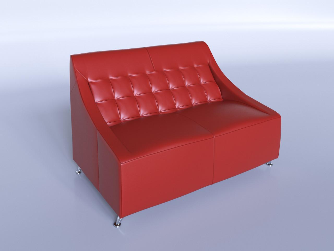 """Офисный диван """"Полис"""" красный"""