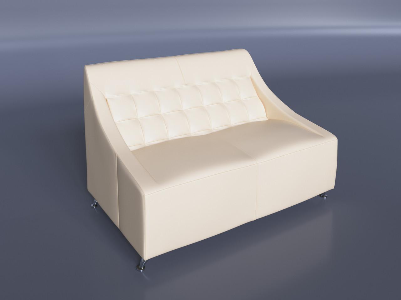 """Офисный диван """"Полис"""" молочный"""