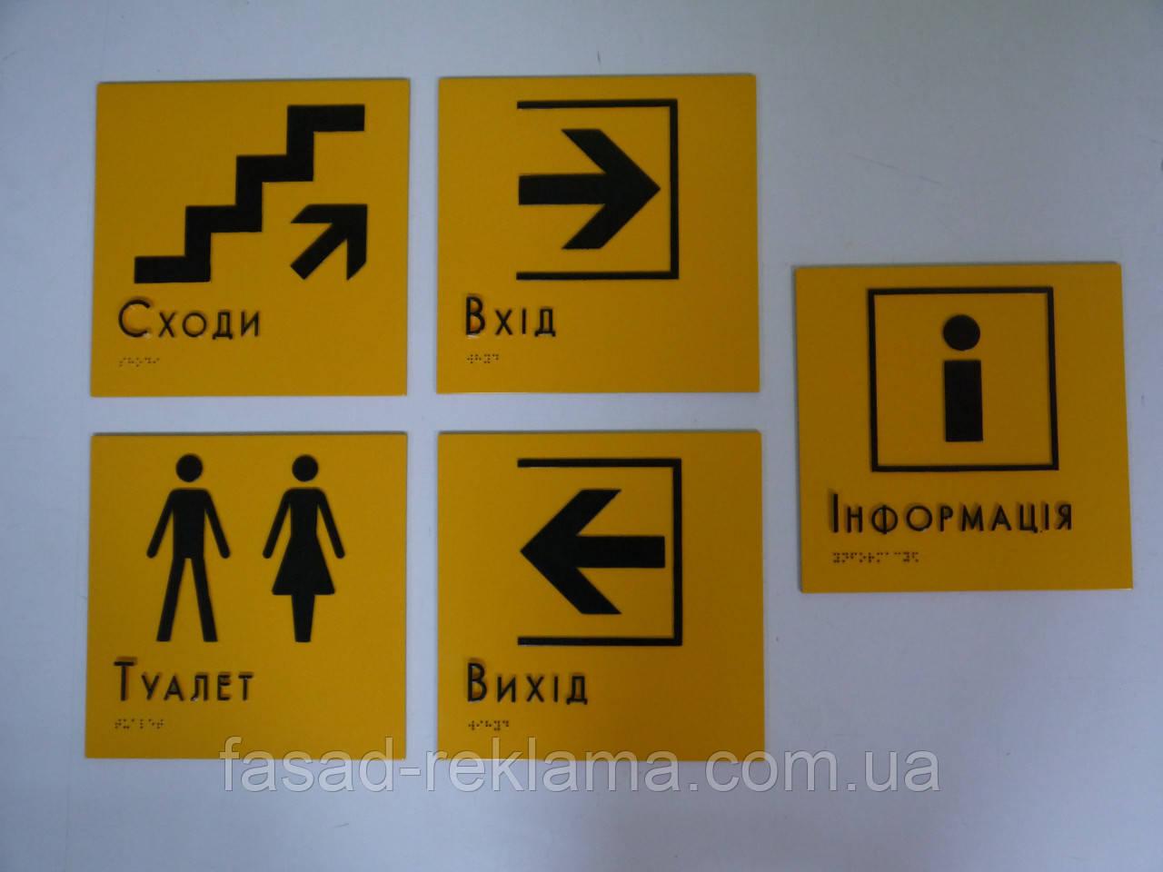Изготолвение информационных табличек пиктограмм