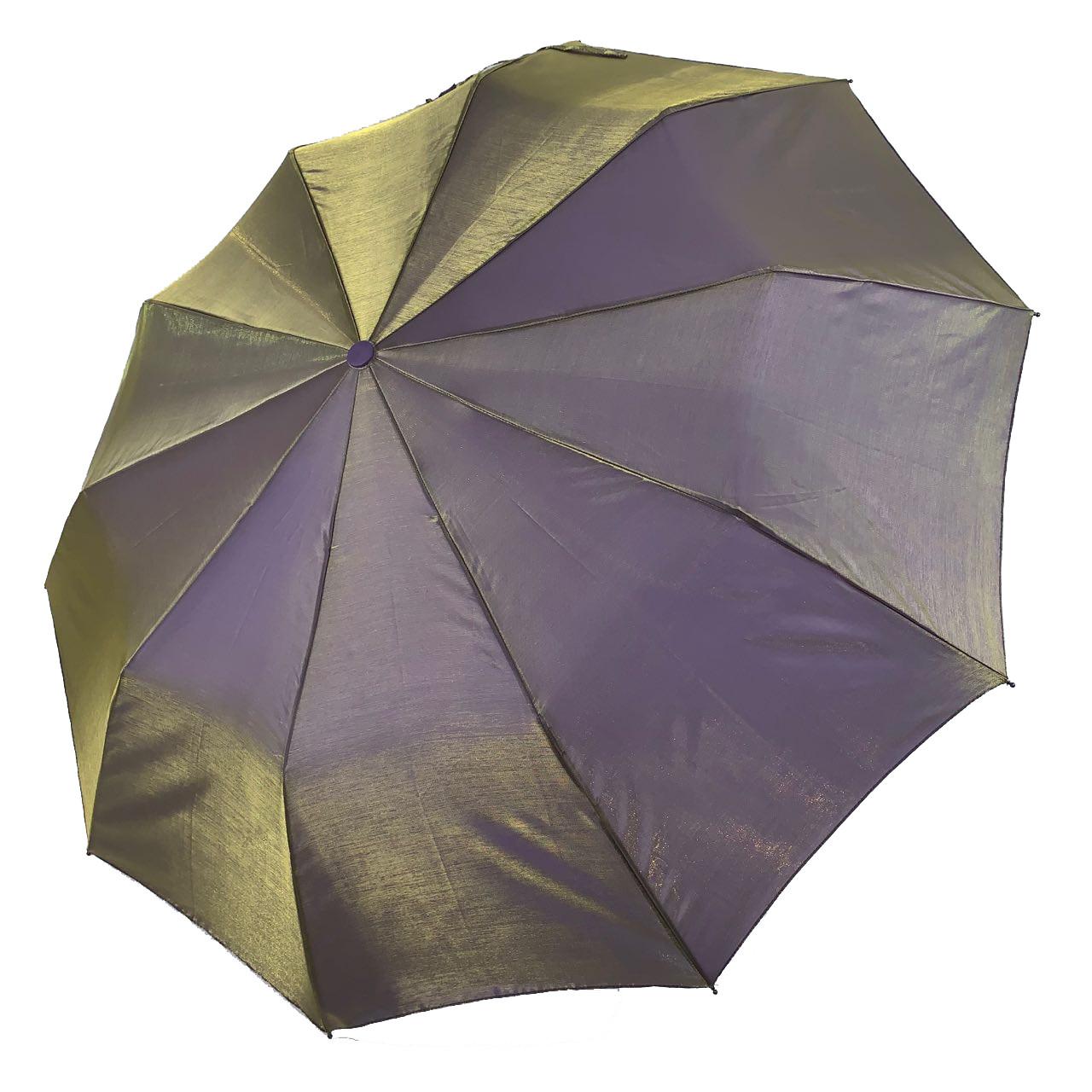 Жіночий парасольку-напівавтомат Bellissimo хамелеон, оливковий, SL1094-12
