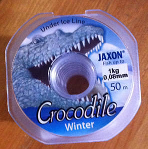 Леска зимняя Jaxon Crocodile 0,08-0,2