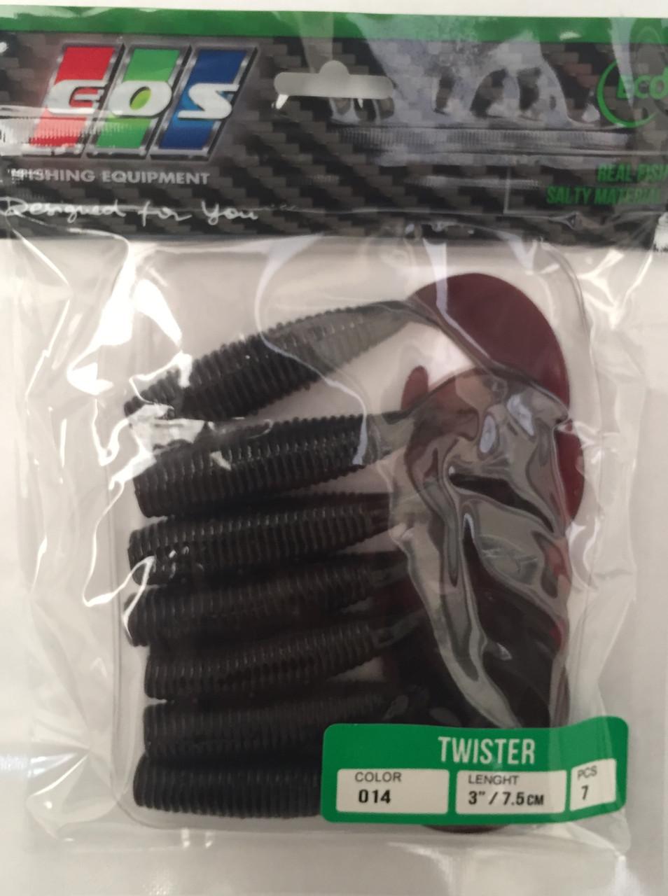 Силиконовые приманки EOS twister 7.5см