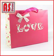 """Пакет """"Love"""" розовый"""