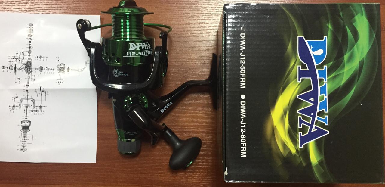Катушка с байтранером Diwa J12-50frm, 3bb пластик