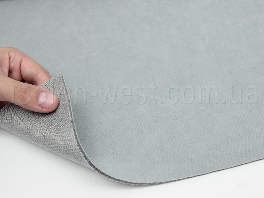 Ткань потолочная светло-серая (холодный оттенок) Frota 5,авто велюр на поролоне 2 мм с сеткой шир. 1.80 метра