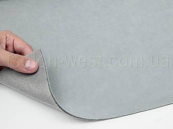 Ткань потолочная 1П светло-серая (холодный оттенок),авто велюр на поролоне с сеткой шир. 1.8м