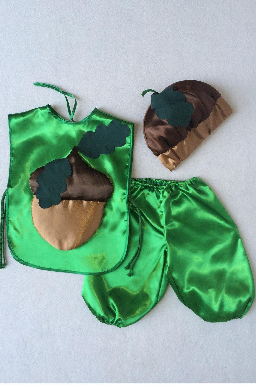 Детский карнавальный костюм  Bonita Жёлудь №1 105 - 120 см Зеленый