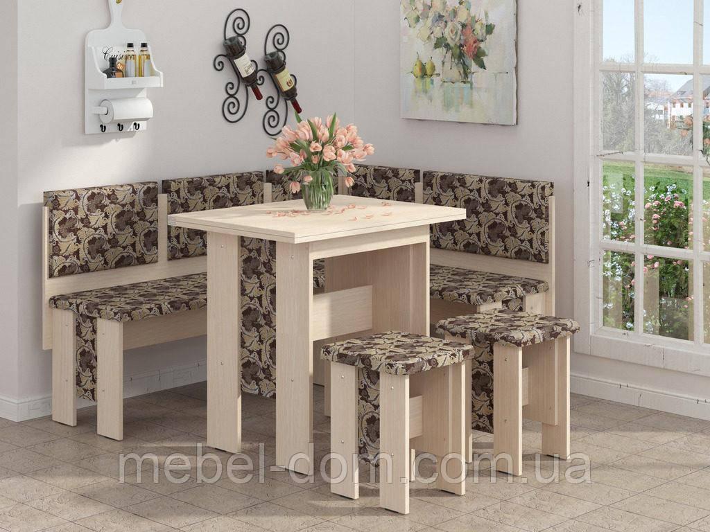 Кухонный уголок Аристократ с простым, раскладным столом