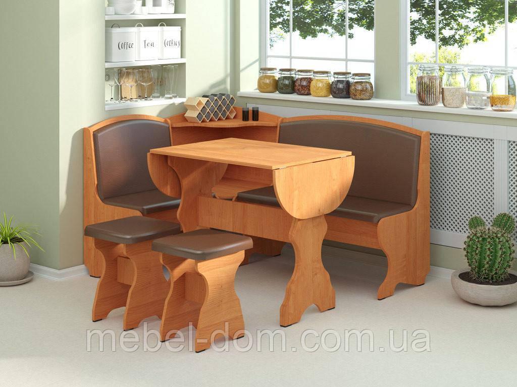 Кухонный уголок Виконт с простым, раскладным столом